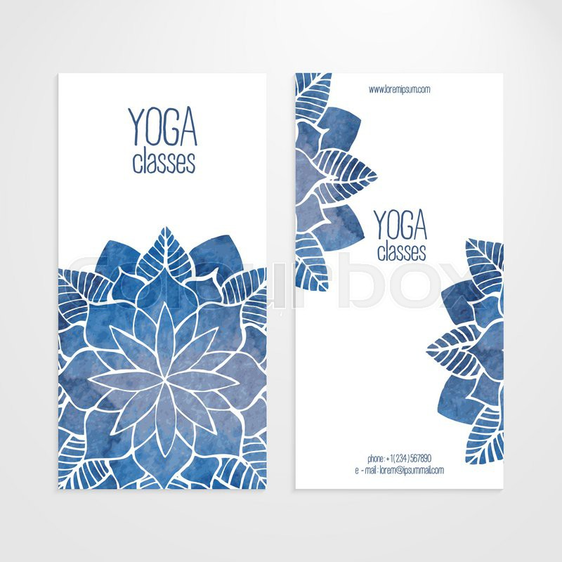 A set of vector vertical banners templates. Watercolor blue abstract ...