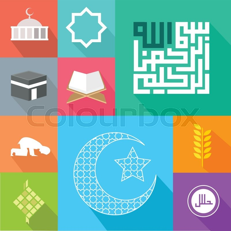 icon islam islamic vector illustration stock vector colourbox icon islam islamic vector illustration