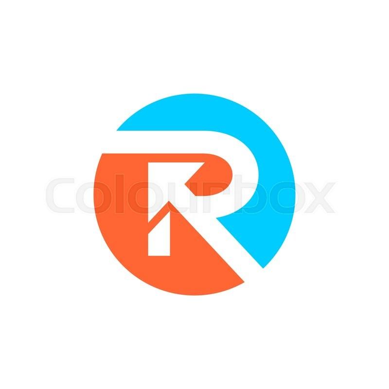 Letter R logo design | Stock Vector | Colourbox