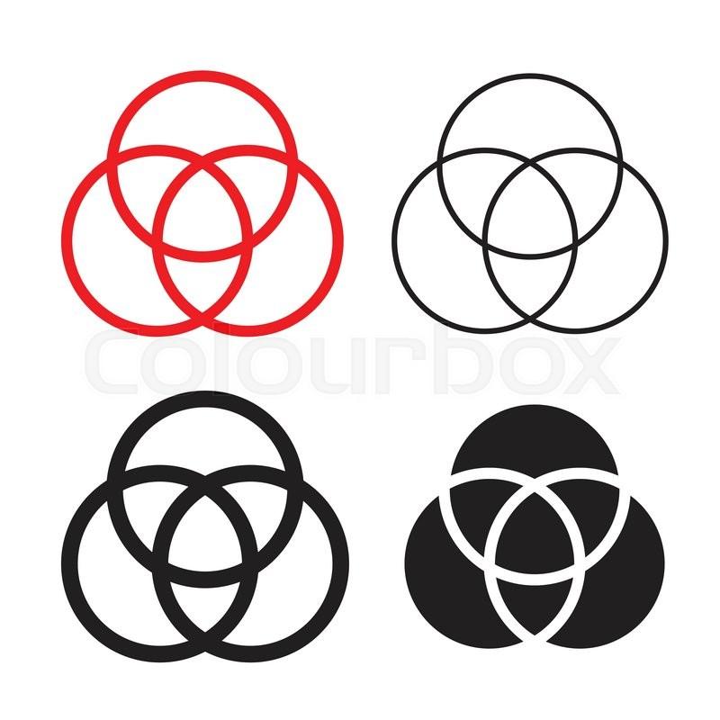 Catholic Holly Trinity Symbols Stock Vector Colourbox