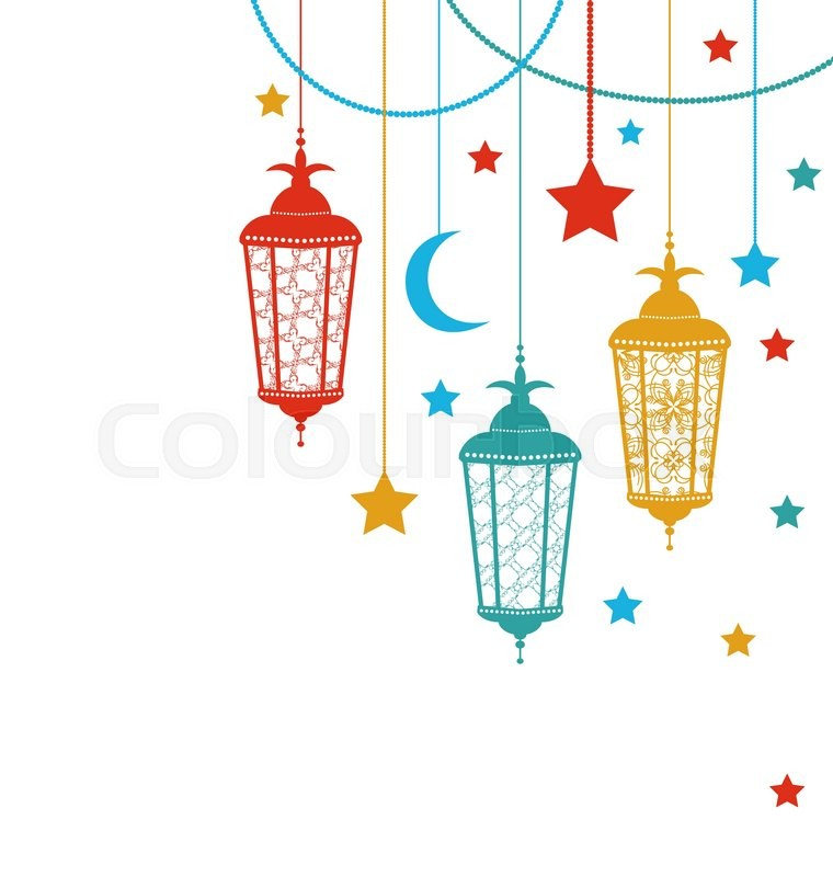 Illustration Ramadan Kareem Background Stock Vector