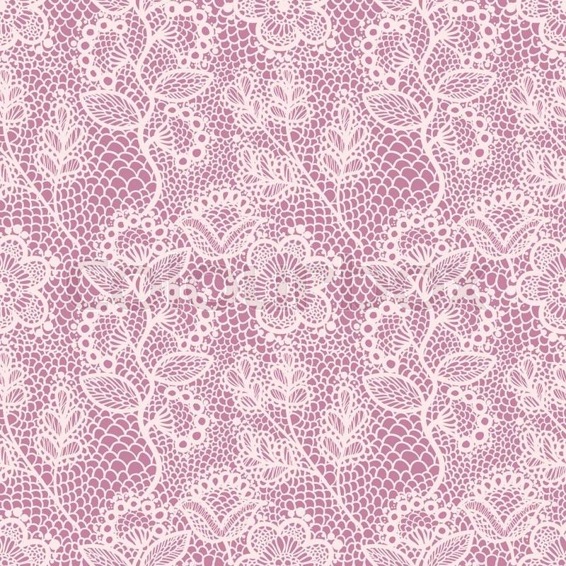 pink gentle seamless floral lace pattern vintage