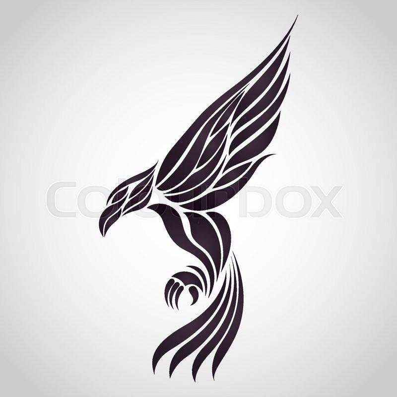 eagle vector logo stock vector colourbox