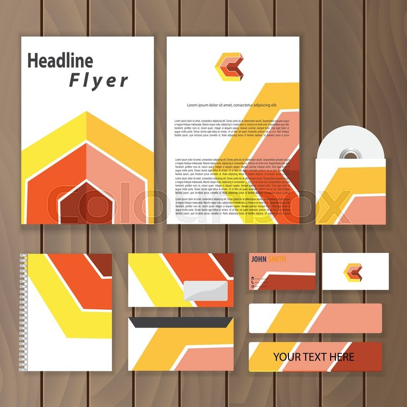 Geometric Corporate Identity. Creative Stationery Template