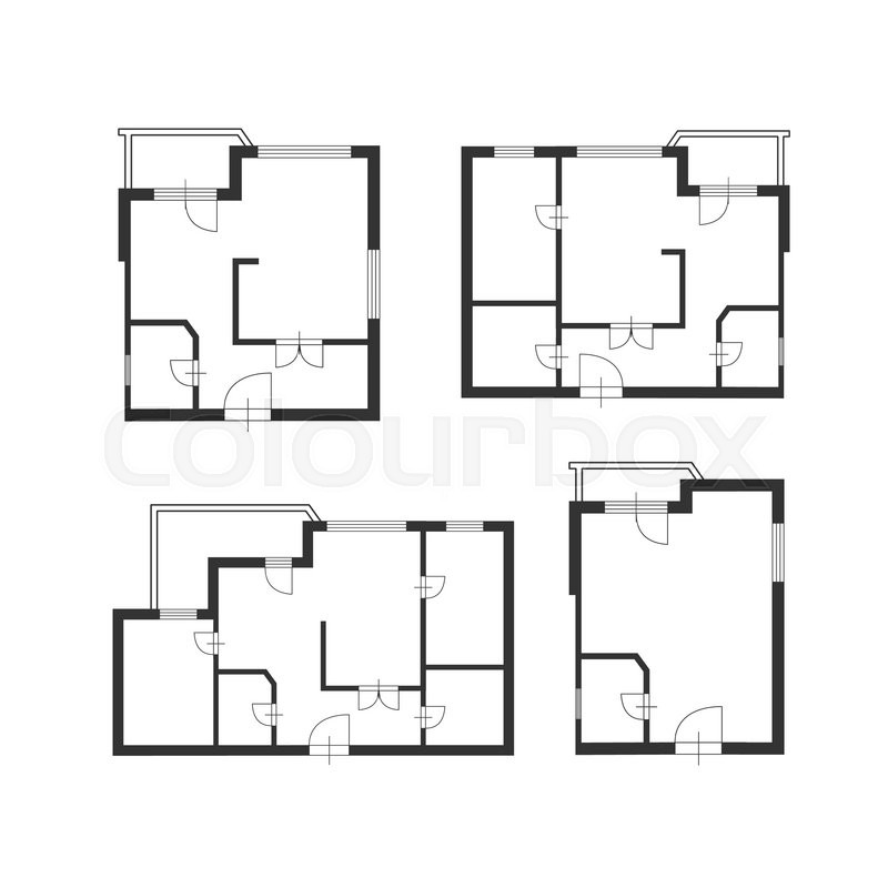 stock vector of vector illustration furniture architect plan of building set flat design architect furniture