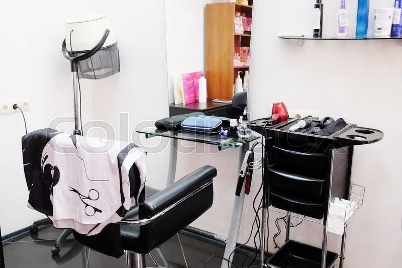 Interior of a beauty salon, stock photo