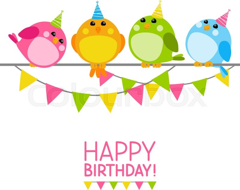 Конверт для, открытки с птичками на день рождения
