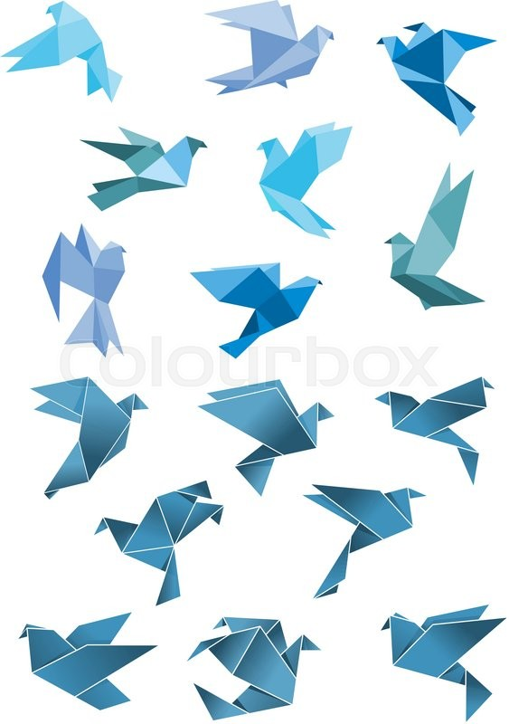 blue-and-white papers on pink surface | Origami paper, Paper ... | 800x563