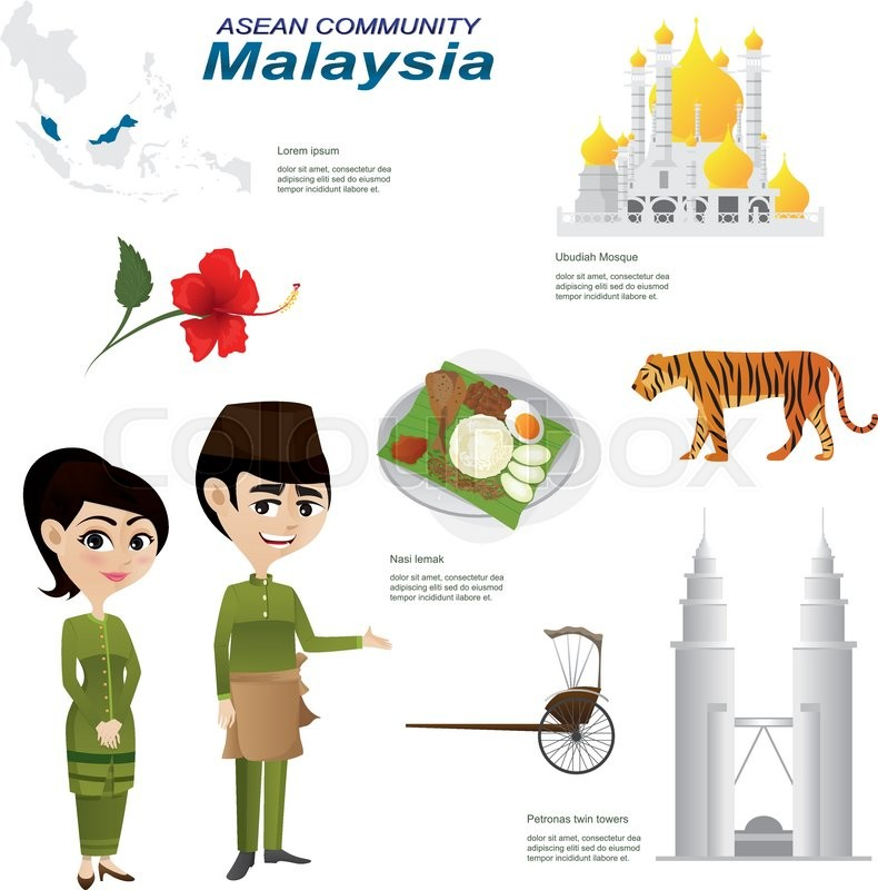Baby Food Manufacturers Companies In Philippines Mail: Illustration Of Cartoon Infographic Of Malaysia Asean