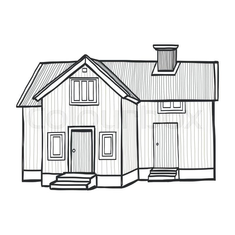 Stock Vektor Von Architektur Skizze Isoliert