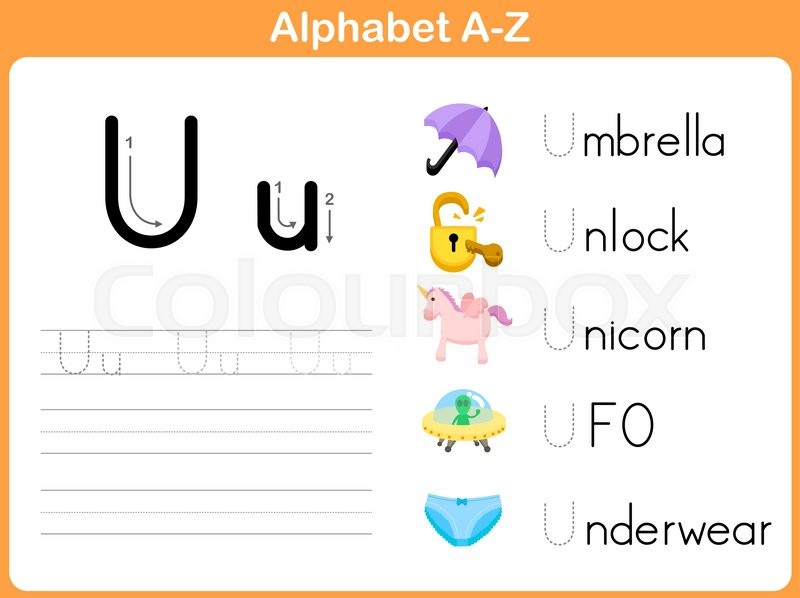 Alphabet Tracing Worksheet Writing AZ Vector – Alphabet Tracing Worksheets A-z