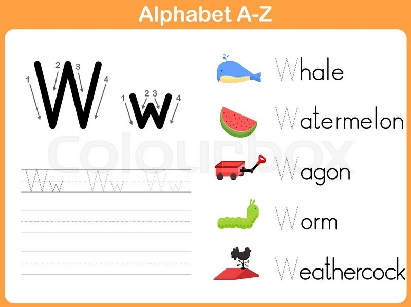 alphabet tracing worksheet writing a z stock vector colourbox. Black Bedroom Furniture Sets. Home Design Ideas