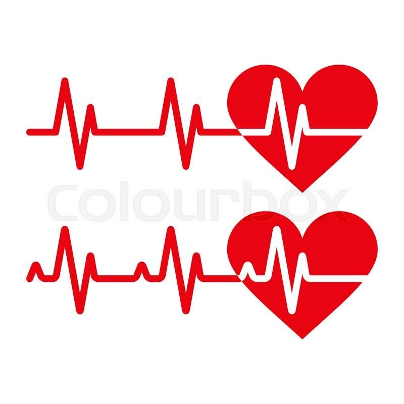 heartbeat icons electrocardiogram ecg or ekg isolated on white rh colourbox com ekg vector ekg vector change