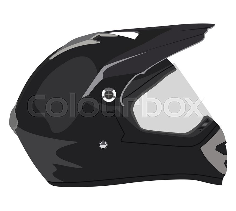 Motorcycle helmet on a white background | Stock Vector ...