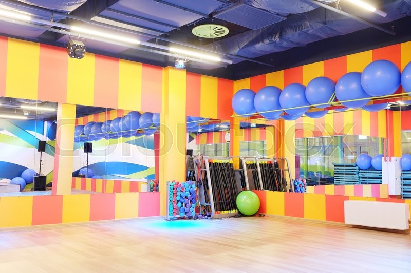 The interior of the dance studio, stock photo