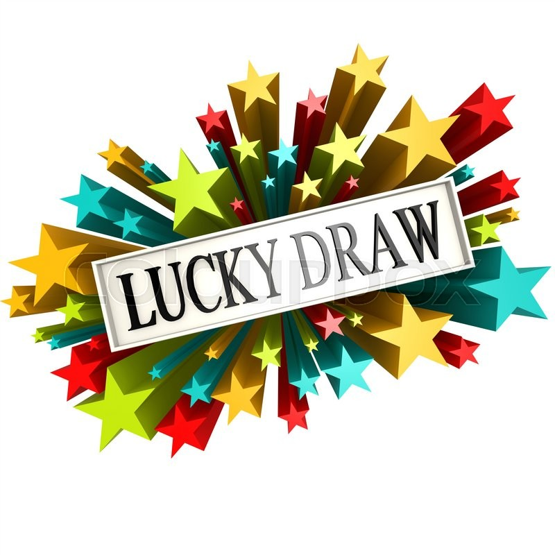 lucky draw star banner image with hi