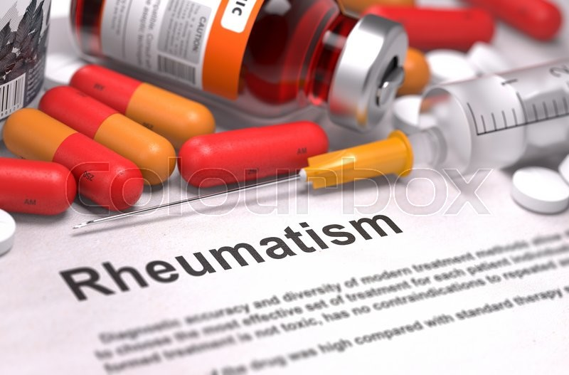 Diagnosis Rheumatism Medical Report Stock Image Colourbox