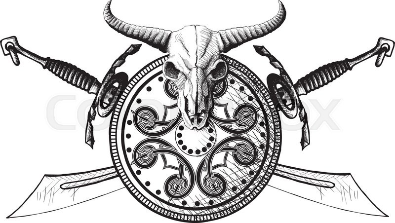 Crossed hammer tattoo
