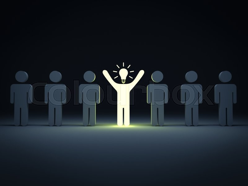 Stand Out From The Crowd And Different Concept One Idea
