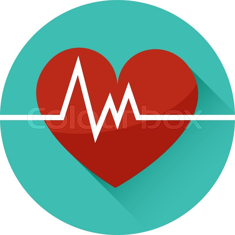 The Heart And Cardiogram Vector Icon Symbol Of Life Trendy Flat