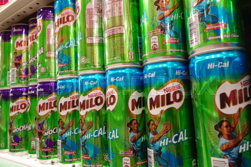 Johor Malaysia 23 Mar Shelves Filled With Can Drink From