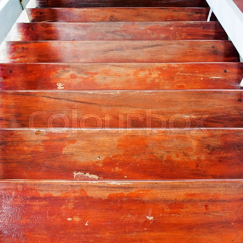 Wood stair, stock photo