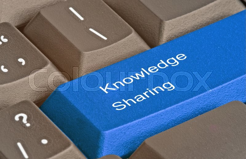 Keyboard with Hot key for knowledge sharing, stock photo