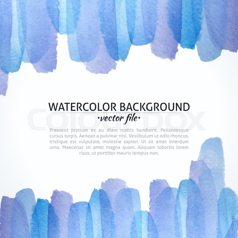 Watercolor Vector Blue And Purple Abstract Background Banner For Web Design Illustration Advertisement Promotion