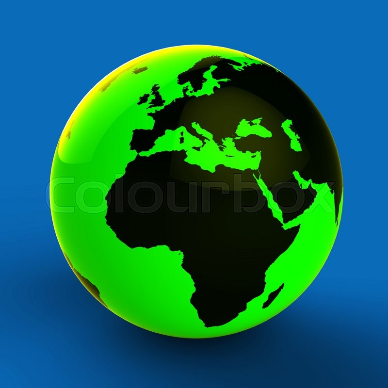 Stock image of 'Europe Africa Globe Shows World Countries And Globally'