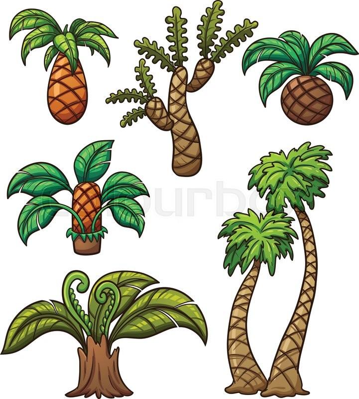 Prehistoric Cartoon Plants. Vector ...