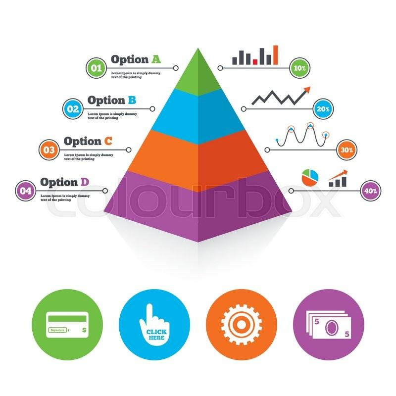 Pyramid Chart Template Atm Cash Stock Vector Colourbox