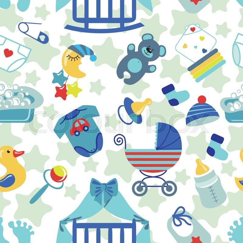 8fe21d8461ad Cute Newborn seamless pattern for Baby ...