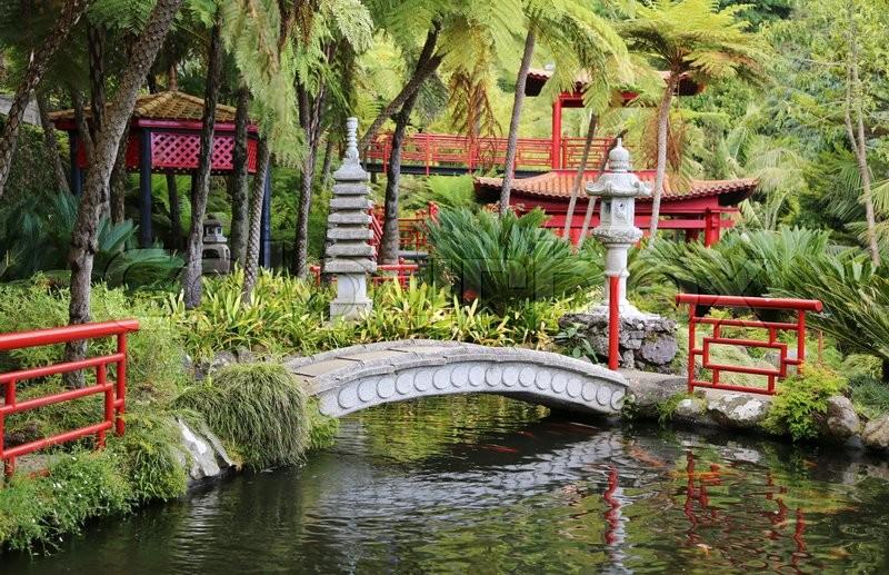 Stock Image Of Bridge Japanese Garden Chinese Gardenzen Oriental