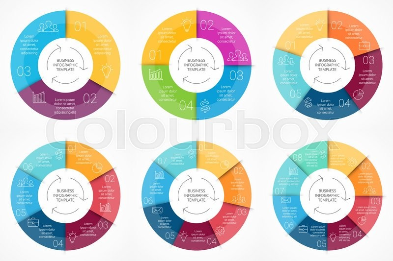Vector circle infographic. Template for cycle diagram ...