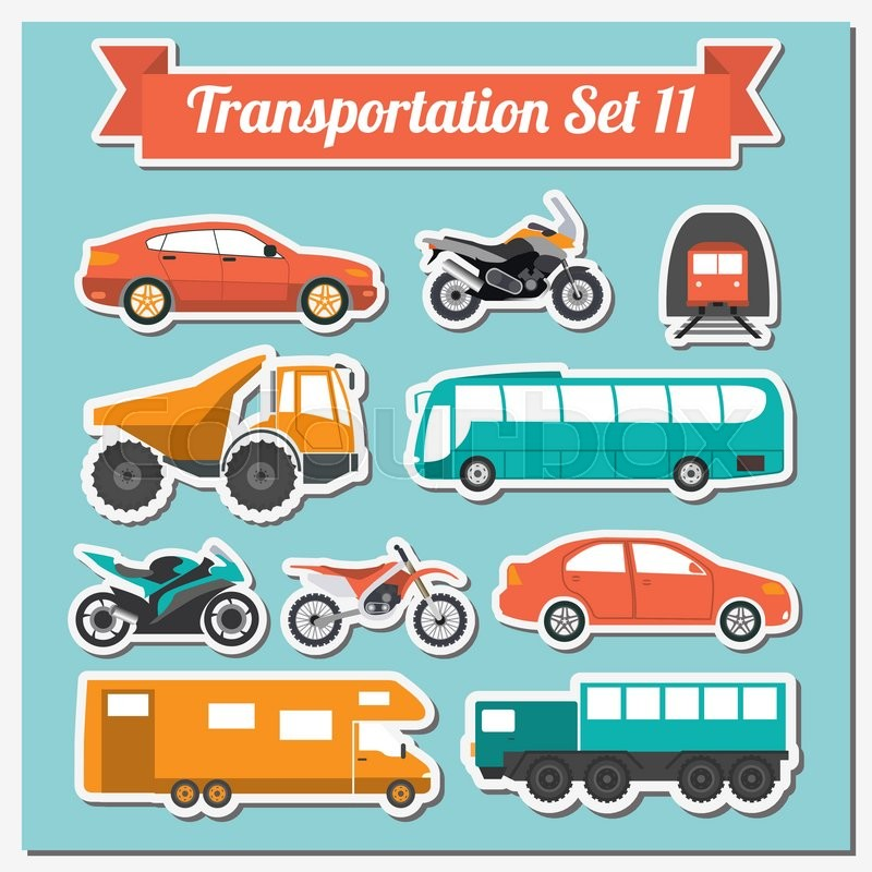 Set of all types of transport icon       Stock vector