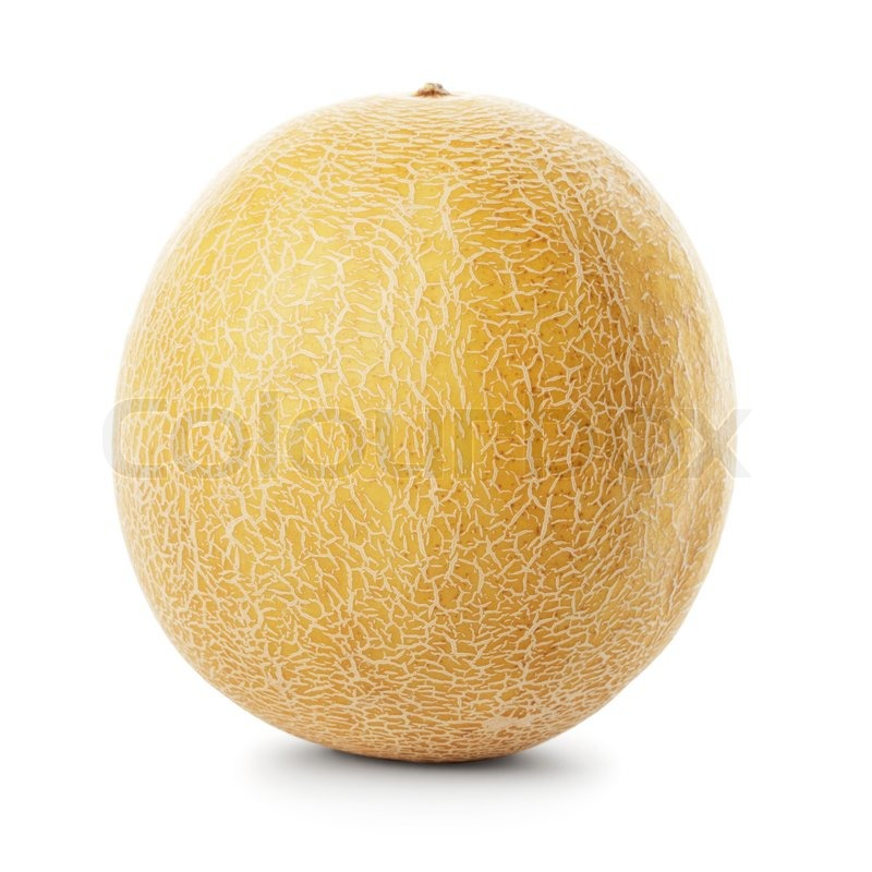 Stock image of 'Whole Galia melon isolated on white with shadow'