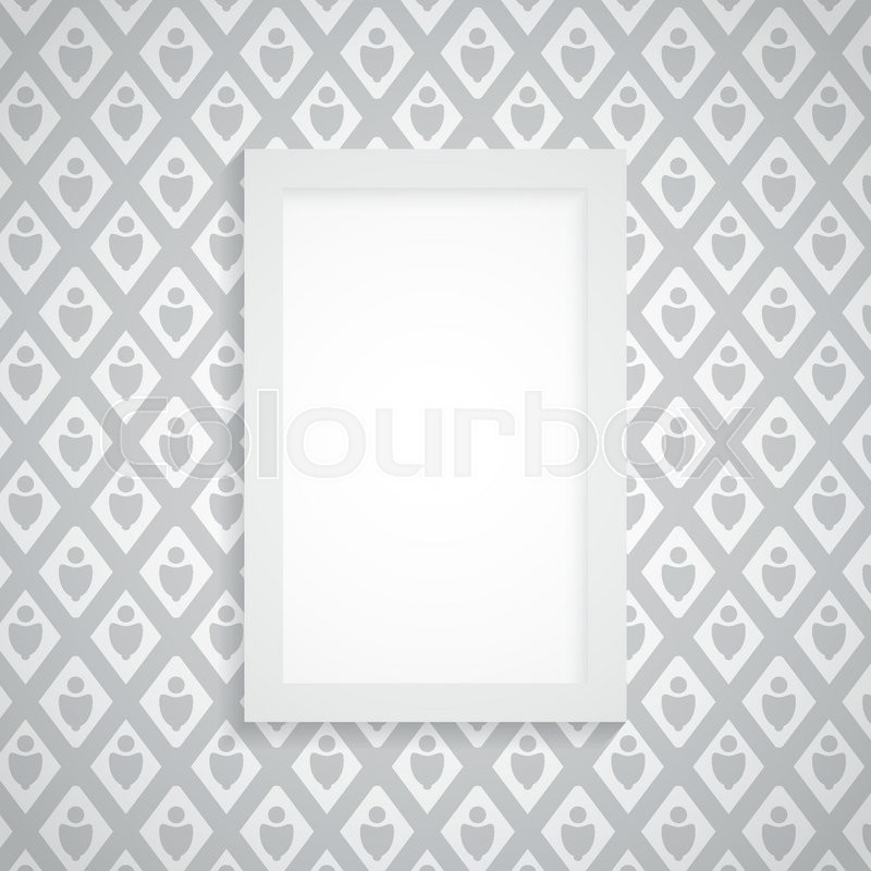 Simple blank frame on gray wallpaper - abstract vector | Stock ...