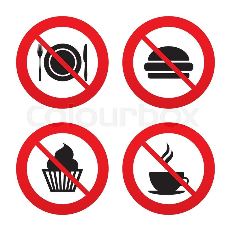 No Ban Or Stop Signs Food And Drink Icons Muffin Cupcake Symbol