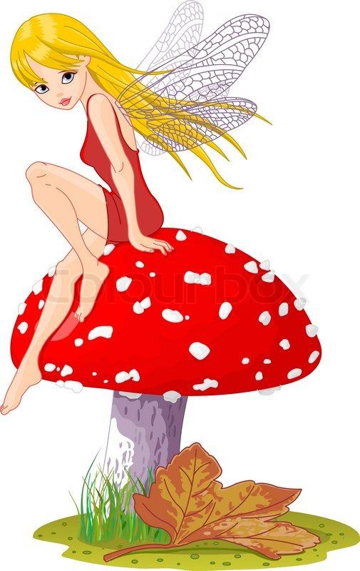 Mushroom Fairy Stock Vector Colourbox