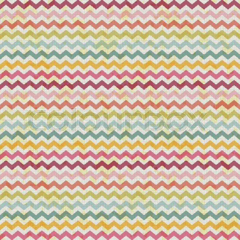 Vector Retro Color Vintage Popular Zigzag Chevron Pattern Rustic Background