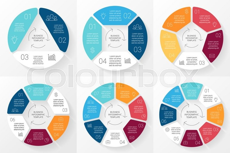 """Infographic Ideas buy infographic template : Buy Vector """"Vector circle infographic. Template for cycle diagram ..."""