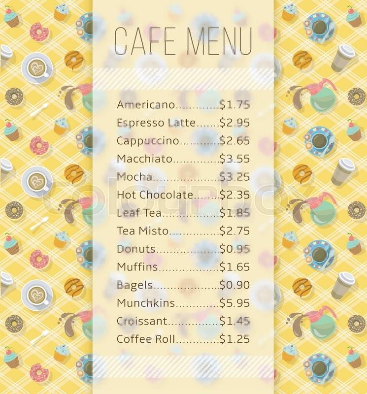 Lebensmittel, vorlage, kaffee | Vektorgrafik | Colourbox