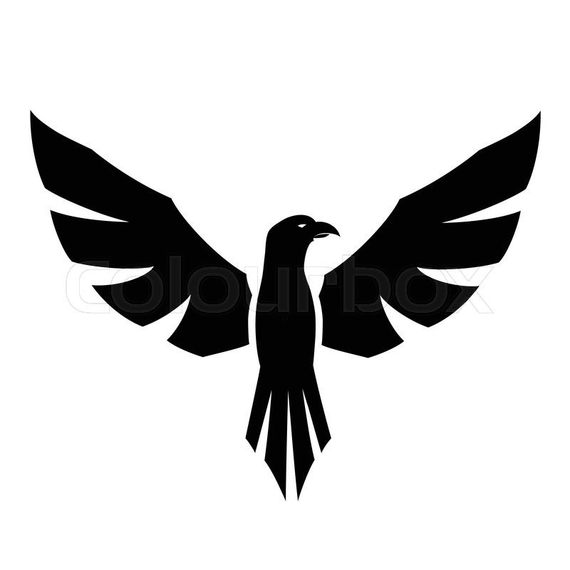 this is a vector illustration of a hawk tattoo stock