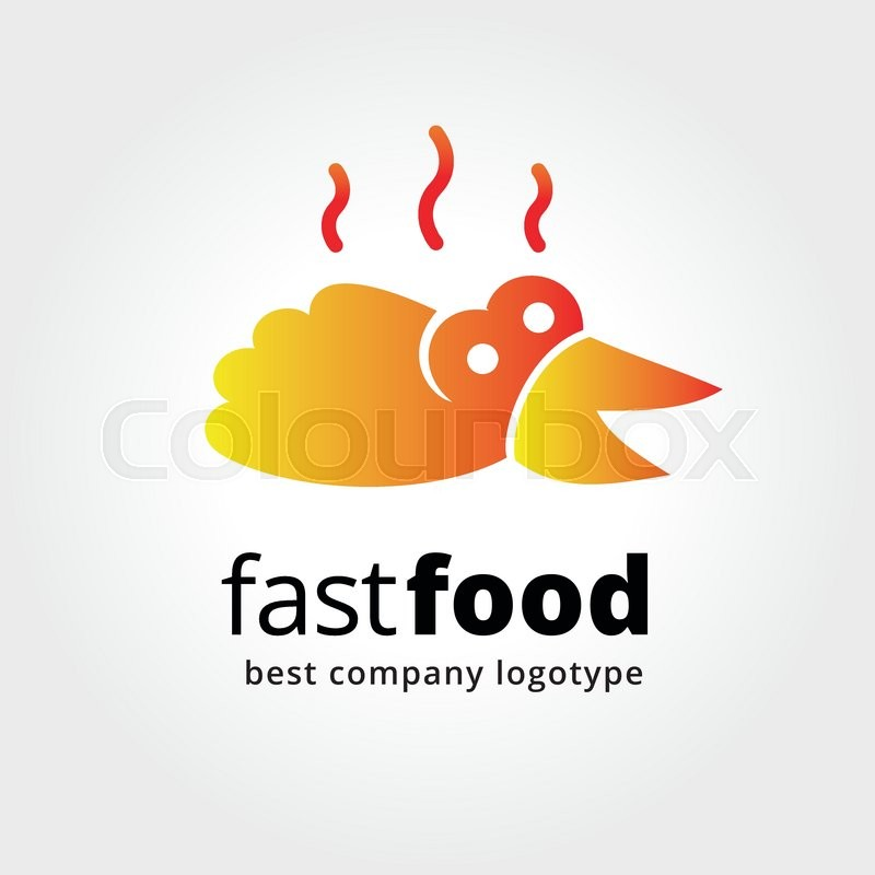 Abstract Fast Food Logo Icon Concept Isolated On White