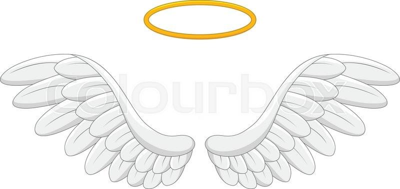 vector illustration of angel wings cartoon stock vector colourbox rh colourbox com angel wings cartoon drawing angel wings cartoon pictures
