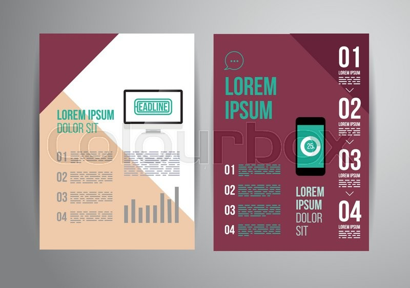 Dynamic Brochure Template Design With Triangle Style Cover Layout - Infographic brochure template