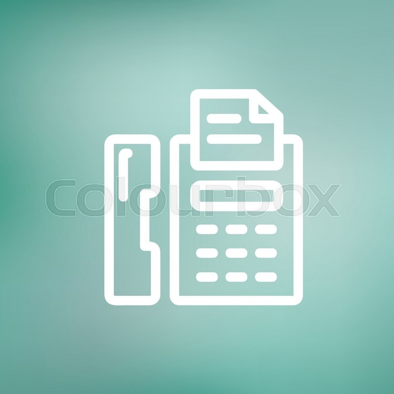 fax machine icon thin line for web and mobile modern minimalistic