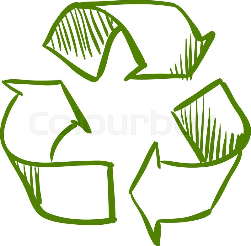 doodle recycle symbol excellent vector illustration eps 10 stock