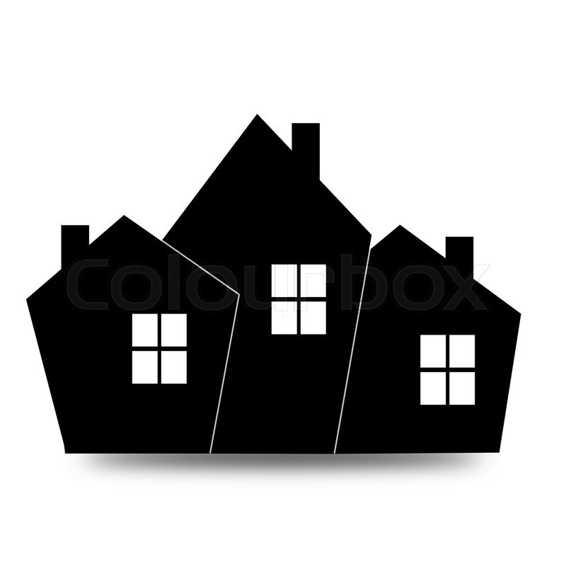 black house icon image with hi res rendered artwork that could be