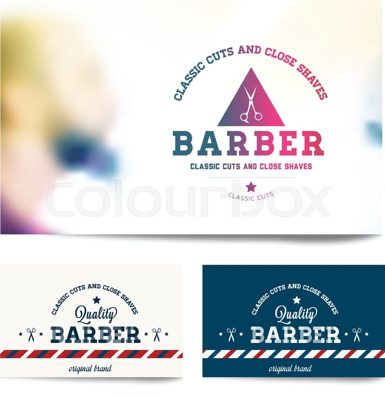 Barber shop business card template stock vector colourbox fbccfo Images